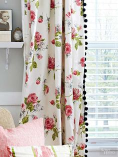 You don't need brand-new blinds to upgrade your living room's window treatments. Improve existing curtains with pom-pom trim, a contemporary paint treatment, or ombre dye. Even new tiebacks can renew the look of your living room./