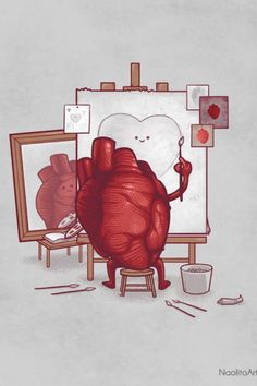 How a heart sees itself