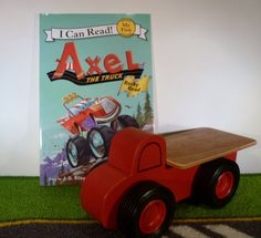 Toy Flatbed Truck With Axel The Truck Book - Handcrafted Wooden Toy Flatbed Red…