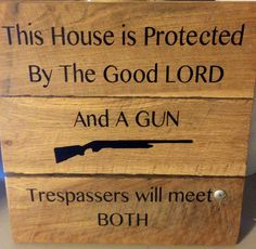 House Is Protected By Lord And A Gun by TMDecals on Etsy, $8.00