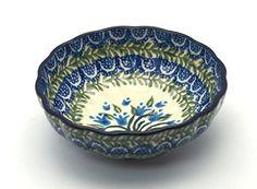 Polish Pottery Shallow Scalloped Small Bowl - Blue Bells Pattern Polish Pottery Gallery http://www.amazon.com/dp/B00MCA2B7Q/ref=cm_sw_r_pi_dp_JW6Oub0ZYGCX2
