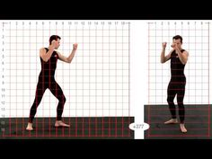 Animation Reference - Athletic Male Thigh Kick - Grid Overlay - YouTube