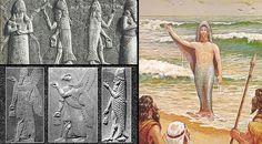 La misteriosa figura del dios Oannes aparece en la cultura babilónica. Las tablillas sumerias y ...