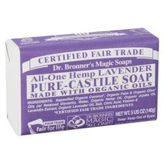 Dr. Bronners Bar Soap - Lavender (5 oz..)