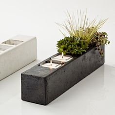 Terrene Planter Series 5 Graphite Concrete