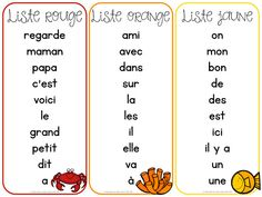 Les mots fréquents et les mots usuels (FRENCH High Frequency/Sight Words) French Language Lessons, French Language Learning, French Lessons, Spanish Lessons, Spanish Class, Spanish Language, Language Arts, Grade 1 Sight Words, Sight Words List