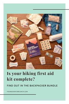 You've been day hiking for years. But want to take your backpacking game up a notch? I get it, transitioning from day hiker to badass backpacker can be intimidating. The Badass Backpacker Bundle is here to help! With my complete backpacking gear list + first aid supplies and hiking food recommendations, we'll show you how to go from novice hiking enthusiast to experienced overnight backpacker in no time at all. Download the free bundle today! Hiking First Aid Kit, Wilderness First Aid, Backpacking Gear List, Hiking Gear, First Aid Kit Checklist, Best Camping Stove, First Aid Supplies, Hiking Food, Packing Light