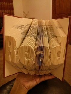 Book Folding Pattern for Read and FREE by BookFoldingForever