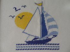 Filet Crochet Charts, Knitting Charts, Baby Knitting, Cross Stitch Sea, Cross Stitch Flowers, Marine Style, Cross Stitch Landscape, Pixel Pattern, Knitted Baby Clothes