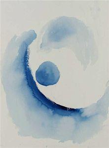 comme une début bleu abstraction - (Georgia O'keeffe)