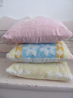 Vintage towel cushions