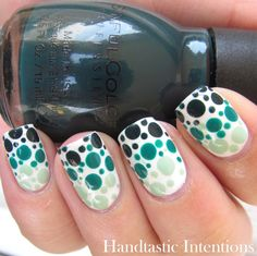 Handtastic Intentions: Nail Art: Green Dotticure #fightforlifeandlive