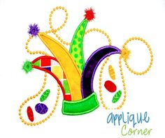 Applique Corner - Jester Hat with Beads