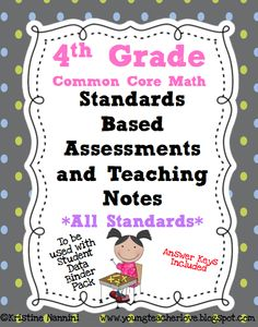Standards based assessments and teaching notes that break the common core down into simple, teachable chunks! Perfect to understand what students need to know by the end of the year.$