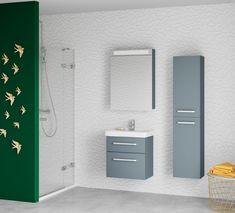 Řada GO patří do malé moderní koupelny Modern Bathroom Design, Bathroom Lighting, Vanity, Mirror, Furniture, Home Decor, Bathroom Light Fittings, Dressing Tables, Bathroom Vanity Lighting