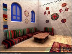 Traditional Nubian houses are a perimeter of rooms built around a sand-covered… Indian Home Interior, Indian Home Decor, Modern Architecture House, Interior Architecture, Mud House, Farm House, African House, Ethnic Decor, Bungalow House Design