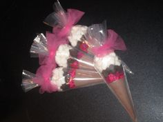 Hot Chocolate Cocoa Cone Favors - Set of 10