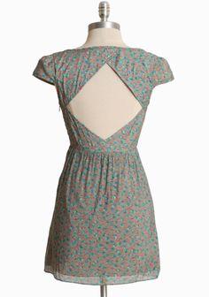 Hydrangea Dusk Cutout Tunic Dress | Modern Vintage Dresses
