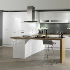 Lucente White Küchen Design, Table, Kitchen Inspiration, Furniture, Mario, Bathroom, Home Decor, Decorating Kitchen, Little Kitchen