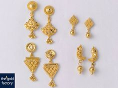 Beautiful Earrings for all occasions:  (Clock wise weight and price details) 1.Weight 4 gm and price Rs.12,500/- 2. Weight 1.5 gm and price Rs.4,800/- 3. Weight 2 gm and price Rs.6,300/- 4. Weight 4.5 gm and price Rs.14,000/-