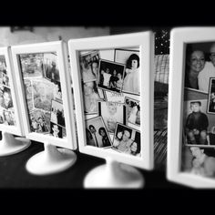 Double sided photo frames for table decorations - 50th birthday