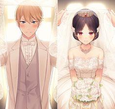 Anime Gifs, M Anime, Anime Couples Manga, Anime Art, Best Anime Couples, Anime Wedding, Cute Anime Coupes, Another Anime, Anime Love Couple