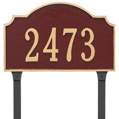Montague Metal Products Vanderbilt Standard One Line Address Plaque Finish: White/Gold