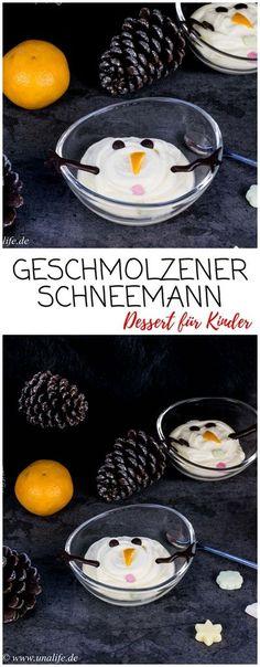 Leckeres Winter Dessert: geschmolzener Schneemann