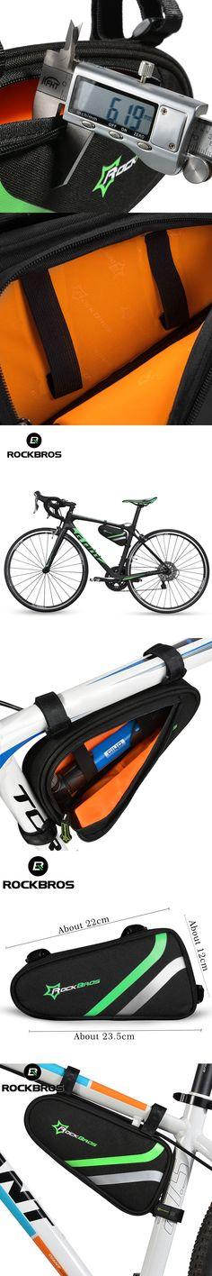 ROCKBROS Bicycle Frame Bag Outdoor Cycling Bike Top Tube Bag Cycling Pannier Bike Accessories Bicycle Repair Tool Bag Triangle