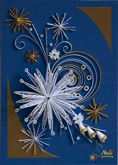neli: Quilling card - snowflake
