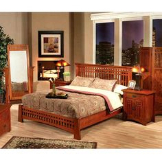 http://www.lafuente.com/Rustic-Furniture/Mission-Oak-Furniture/Bedroom/7090/ Eastern King Platform Bed Item #: 50204