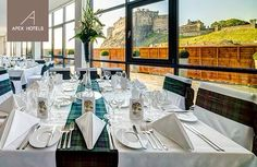Private dining with views of the castle at The Apex Grassmarket in the fabulous Heights