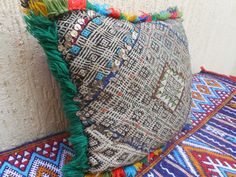 Vintage Moroccan Berber Pillow Cover Woven by MoroccanPopDecor, $94.00