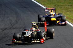 Romain Grosjean & Sebastian Vettel - Hungarian GP 2012