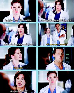April: You were married? To a man? Callie: And then he died. #GreysAnatomy #AprilIsTotesConfused RIP George