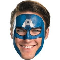 face painting superheroes - captain america