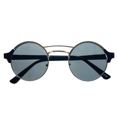 #steampunk #retro #vintage #designer #fashion #round #sunglasses #circle #black #gray #lens