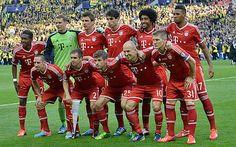 CL Finale 25.5.2013 in Wembley. Die Startaufstellung des FC Bayern München.  Mit David Alaba erstmals auch ein Österreicher in einem CL Endspiel.