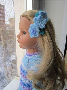 ... и заколка с незабудками. / Мастер-классы, творческая мастерская: уроки, схемы, выкройки кукол, своими руками / Бэйбики. Куклы фото. Одежда для кукол