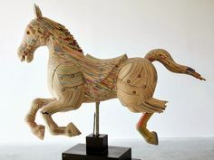 Reclaimed Skateboard Horse Sculpture by Haroshi.                                           Gloucestershire Resource Centre http://www.grcltd.org/scrapstore/