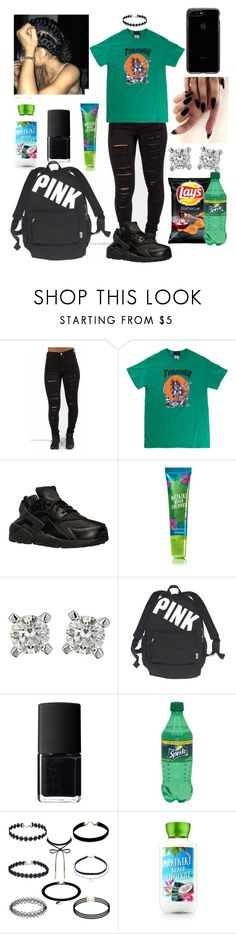 """Do what I want"" by azariaaaaaa ❤ liked on Polyvore featuring NIKE, Victoria's Secret and NARS Cosmetics"