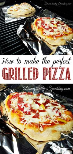 How to Make the Perfect Grilled Pizza - shares her tips and tricks on how to make grilled pizza. So fun for the summer!