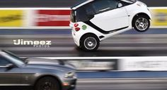 Oh No Big Deal, Just A Smart Car Doing A Wheelstand - 13 sec quarter mile at 13 mph