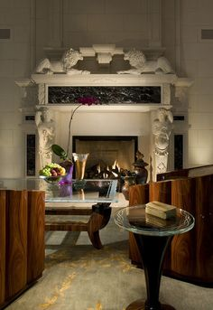 Architectural and Interior Photography - eclectic - living room - miami - Craig Denis Modern Classic Interior, Traditional Interior, Contemporary Classic, Contemporary Design, Eclectic Fireplaces, Indoor Fireplaces, Eclectic Living Room, Living Rooms, Living Spaces
