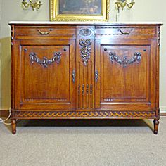 19th Century French Antique Louis XVI Style Oak Buffet