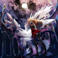 Serena with Mega Absol