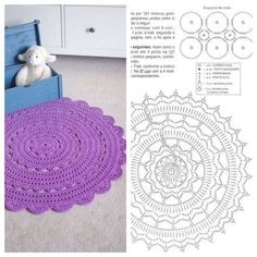 Amo tapetes desse modelo e nes Discover thousands of images about The Snorka crochet doily rug pattern is designed for crocheting with t-shirt yarn. This Pin was discovered by gab Issuu is a digital publishing Material: 2 cones do fio Liza Amo tapetes des Crochet Doily Rug, Crochet Rug Patterns, Crochet Carpet, Crochet Mandala Pattern, Crochet Doily Patterns, Crochet Circles, Diy Crafts Crochet, Crochet Home, Tapete Doily