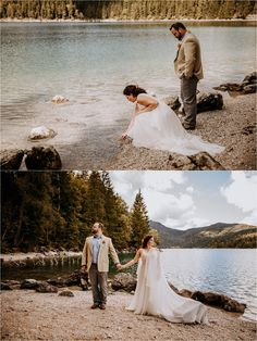 Melissa & Shane travelled to Germany for this intimate lakeside elopement in the Bavarian Alps on the banks of the beautiful Lake Eibsee. Mountain Elopement, Elopement Inspiration, Germany Travel, Alps, Bride, Cant Wait, Wolf, Beautiful, Wedding Bride
