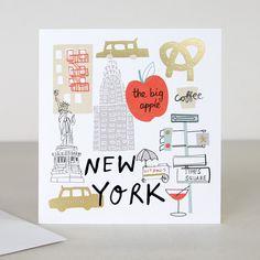 You Are Here New York Travel Greeting Card | Caroline Gardner