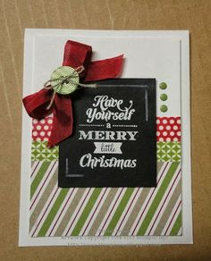 Stampin' & Scrappin' with Stasia: 9th day of Christmas - Chalkboard Christmas Card  http://www.stampzone.blogspot.com/2013/11/9th-day-of-christmas-chalkboard.html
